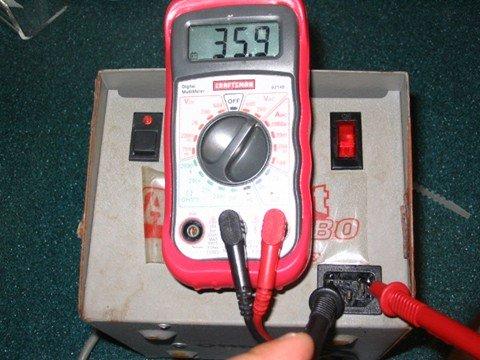 voltage testing aquabot transformer